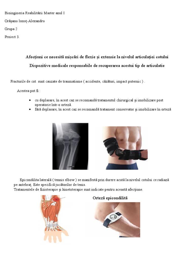 boli ale cotului epicondilita articulației cotului
