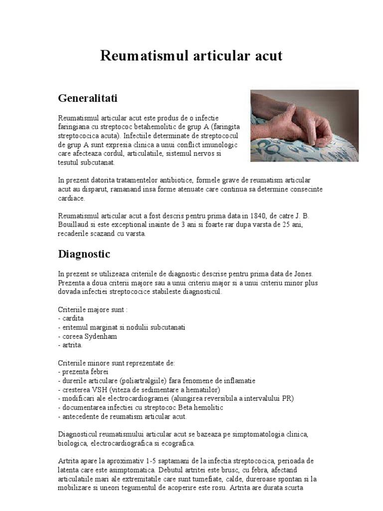 criterii de diagnostic pentru bolile articulare tot despre articulațiile bolii articulare