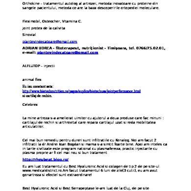 TRATAMENT sistemic local ARTROZA Recuperare Medicala Sportiva - PanSportMedical